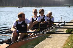 Le bateau SH4X avec dans l'ordre, Pierre, Chris, Tanguy (d'Orléans) et Daniel