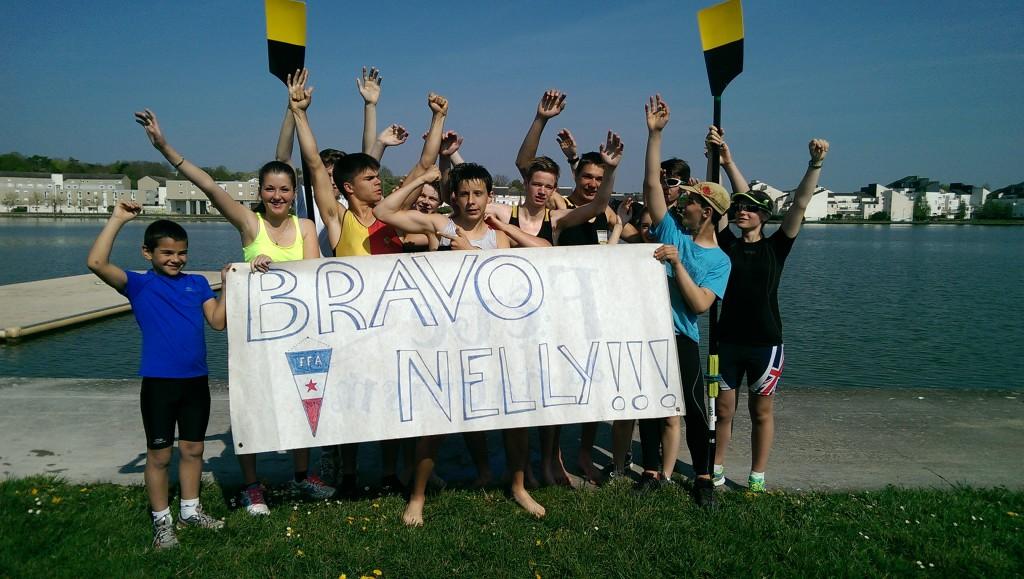 L'arrière garde à Bourges, quelques minutes après la victoire de Nelly