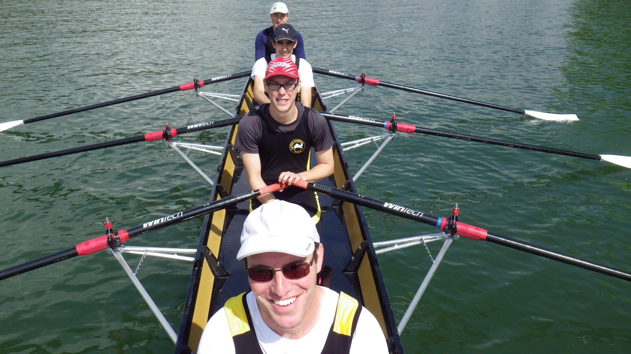 Les berruyers sur la Saône avec Pierre, Thibault, Loïc et Alexandre