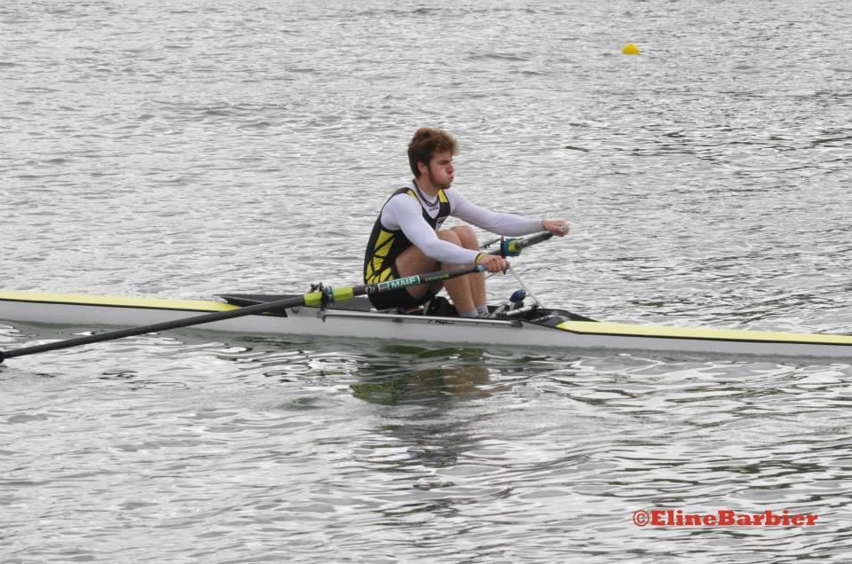 Hugo Brunet également en skiff