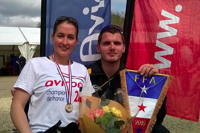 Nelly avec Yves et son nouveau titre de championne de France